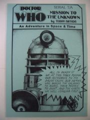 Doctor Who Mission To The Unknown CMS In-Vision RARE Daleks
